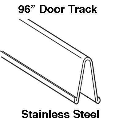 """Patio Door track, 96"""" - stainless steel - available at Abstract Glass"""