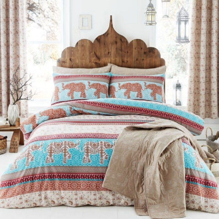 Catherine Lansfield Elephant Duvet Cover Set  #RapportHome #AsianOriental