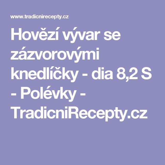 Hovězí vývar se zázvorovými knedlíčky - dia 8,2 S - Polévky - TradicniRecepty.cz