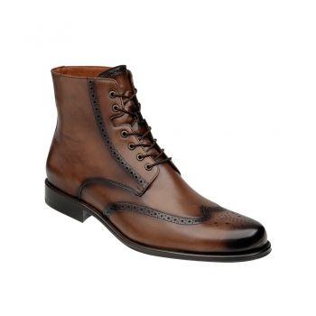 BOTA CUADRA ~ Botín tipo bostoniano en piel genuina de bovino con agujeta y  suela de. Male BootsMen's BootsExclusive ShoesMan ...