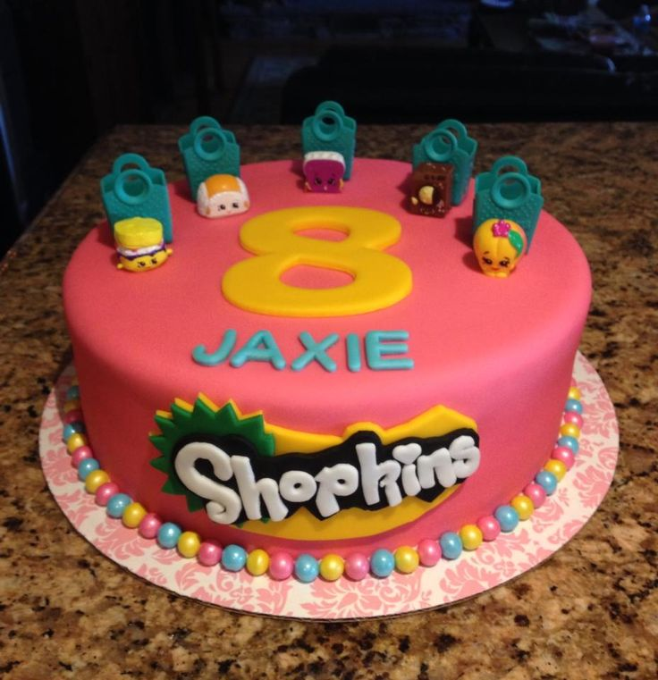 Shopkins cake | MommaZinga Cakes, Cupcakes | Pinterest ... Birthday Cakes With Name Edit For Facebook