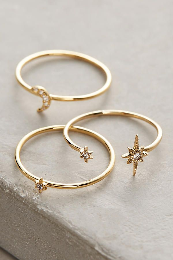 Celestial Stacking Rings