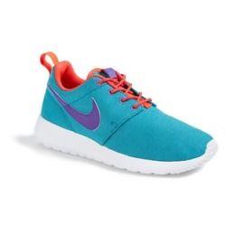 Nike 'Roshe Run' Athletic Shoe (Little Kid & Big Kid) Green/ Crimsom/ White/ Purple 5.5 M - product - Product Review