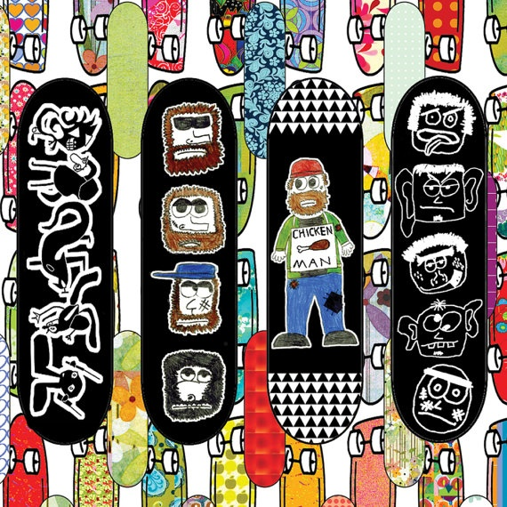Boy's art print nursery décor Skateboards by OzscapeDesigns, $15.99