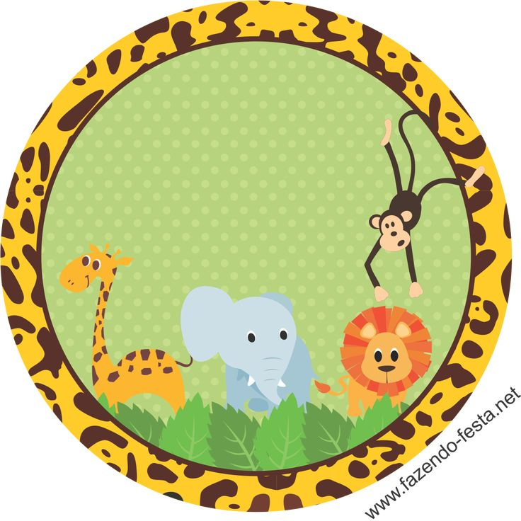 kit festa safari adesivo sacolinha