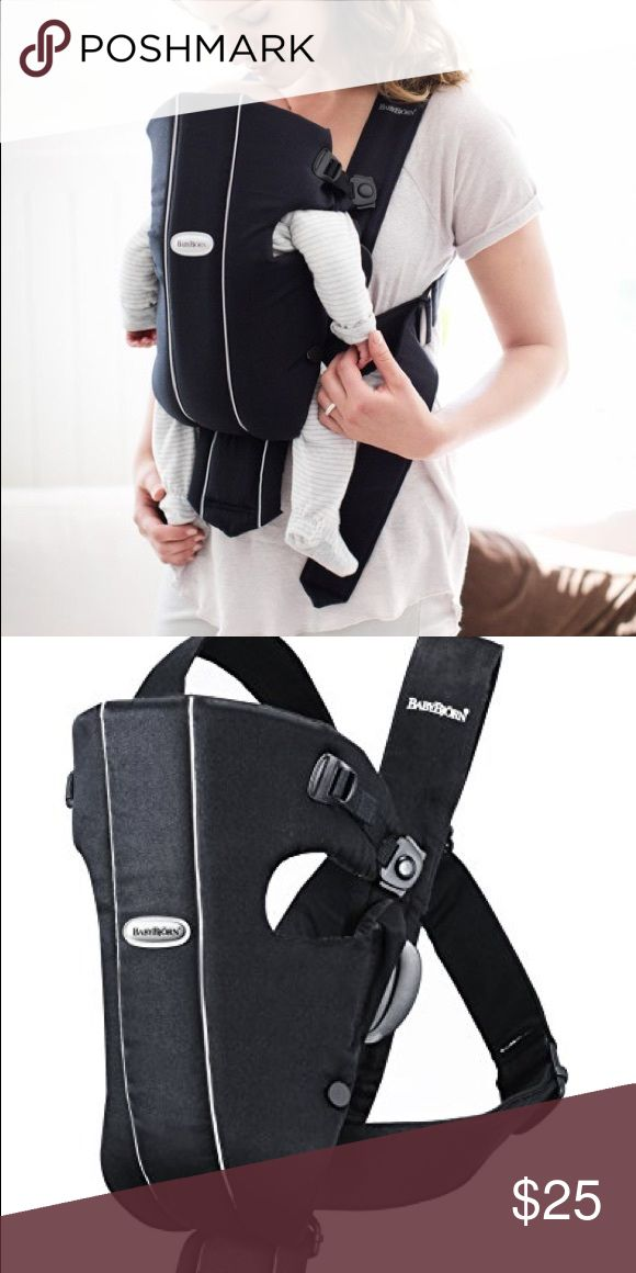 """Baby Björn Original Baby Carrier EUC. Includes owner's manual. One size fits most. Suitable for babies 8lbs/21"""" up to 25lbs. 100% Cotton. Machine washable. Baby Björn Other"""