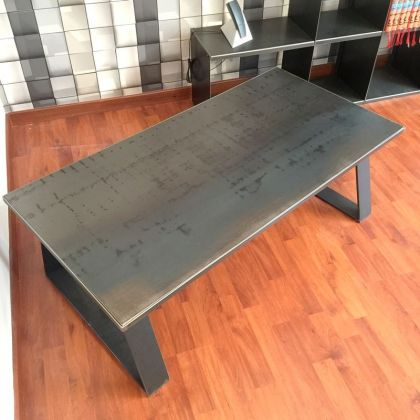 table basse mtal industrielle