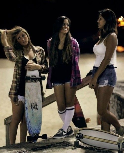 long boarding  girls! I need to learn how.