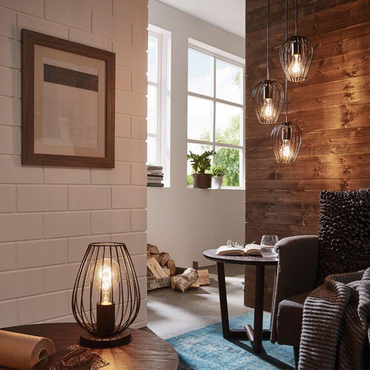 De industriële stijl is helemaal in en deze Newton tafellamp past daar perfect bij.   Deze tafellamp maakt deel uit van de Trend Collectie van Eglo en is compatibel met peertjes van alle energieklassen.