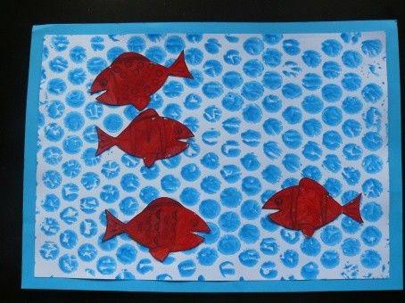 Tableau petits poissons rouges rouge pommes for Petit poisson rouge