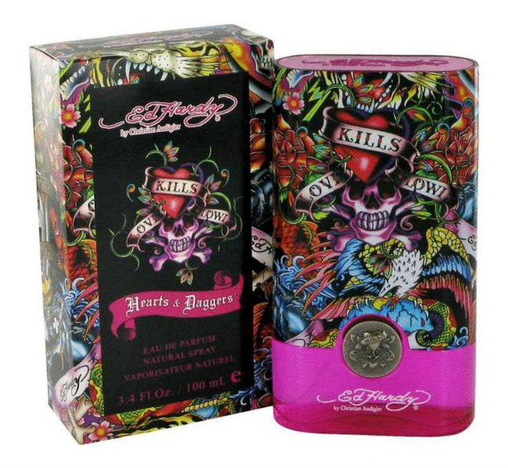 Ed Hardy Hearts Daggers For Women Eau De Parfum Spray 3 4 Oz