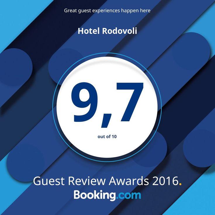 Δείτε το Guest Review Award μας για το 2016 από την @bookingcom. #guestsloveus Ευχαριστούμε όλους τους επισκέπτες μας από την @bookingcom για την εξαιρετική βαθμολογία σχολίων! #guestsloveus