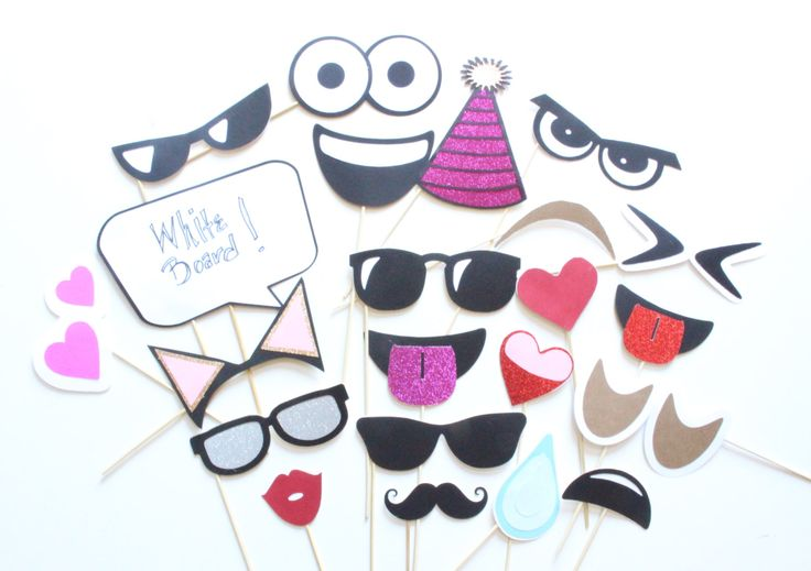 22 pc Emoji Expressions Photobooth  |  Emoji Inspired Photobooth Props by ThePartyGirlStudio on Etsy