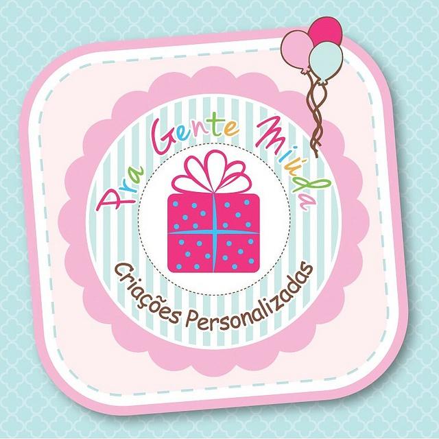 Frente do Cartão de Visita: Rosa Pastel, Tiffany Blue e Pink!!!