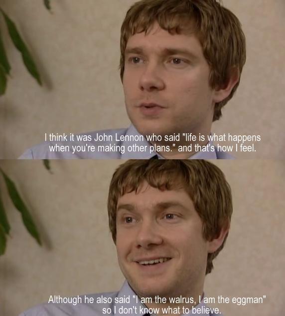 JohnWatson quoting John Lennon!!!! JOHNCEPTION