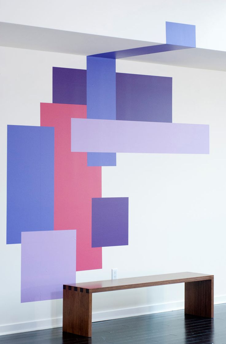 color blocking painting -- my mother would never let me do this, but it's WAY cool