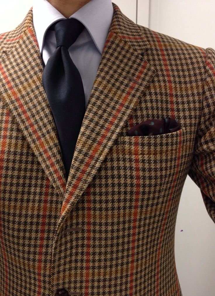 Dapper ! Bulletproof tweed.  Vintage Swaine Adeney tweed SC Mattabisch by Kiton                                                                                                                                                                                 More