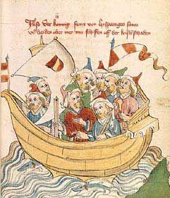 Universitätsbibliothek Heidelberg, Cod. Pal. germ. 362 Konrad Fleck Flore und Blanscheflur Hagenau - Werkstatt Diebold Lauber, um 1442-1444