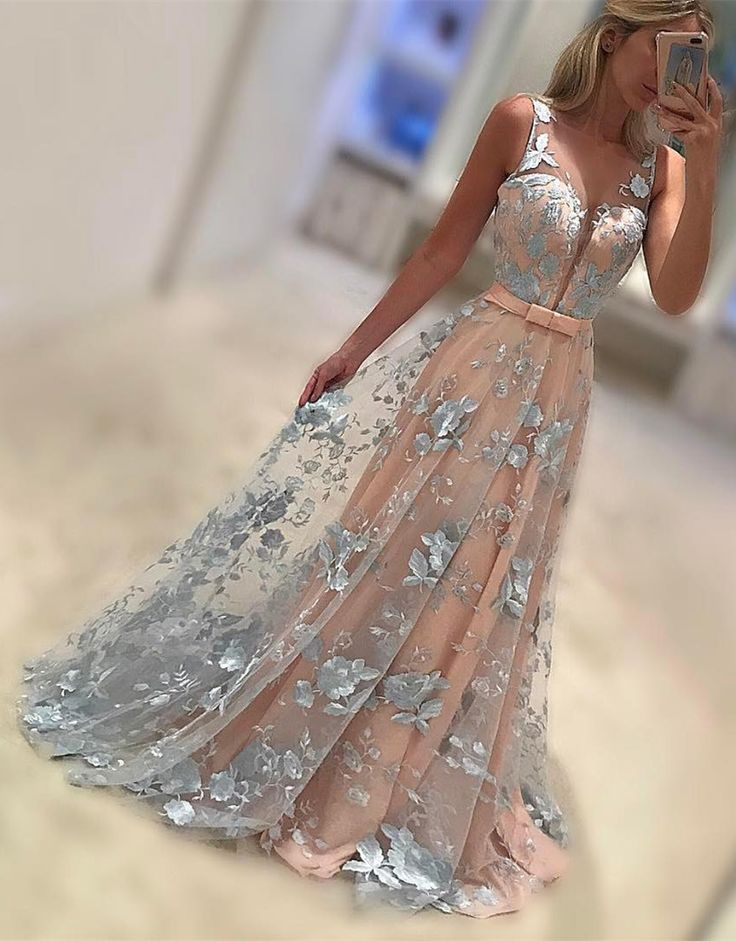 prom dresses, long prom dresses, simple party dresses,chic evening gowns, cheap evening gowns with light appliques