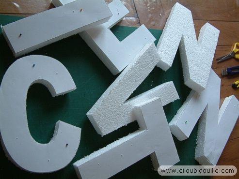 Lettres décoratives (autre méthode) (avec tuto)