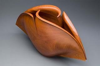 Reflection, by Australian artist Grant Vaughn. Australian Red Cedar.  Ron & Anita Wornick Boston Museum USA