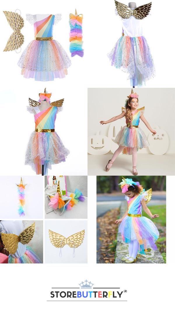 ebf96cf87485e Kids Rainbow Unicorn Dress   stor   Unicorn dress, Rainbow unicorn ...