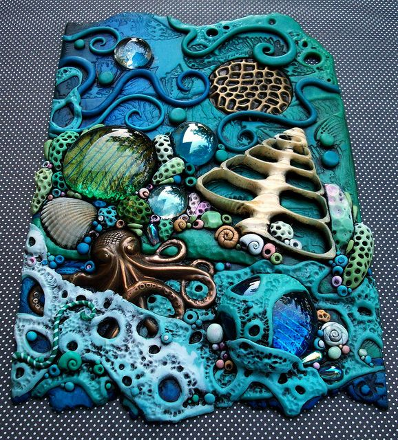 *POLYMER CLAY ~ Coral Fantasy by MandarinMoon, via Flickr