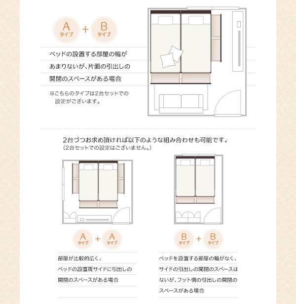 「ベッド ワイドキングベッド フレームのみ WK220(シングル+セミダブル) 収納付き連結ベッド」の商品情報やレビューなど。