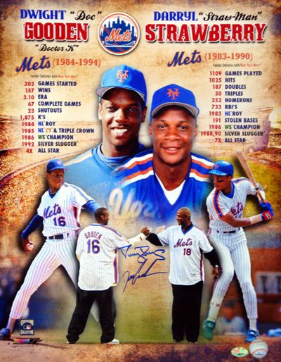 Darryl Strawberry & Dwight Gooden Autographed 16x20 Photo New York Mets PSA/DNA