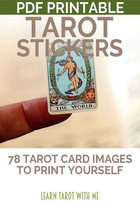 Color Printable Tarot Deck Sticker Set 78 By Learntarotwithme