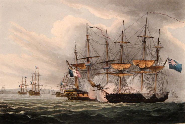 Destruction of the French Fleet in Basque Roads, April 12th 1809  by Thomas Whitcombe