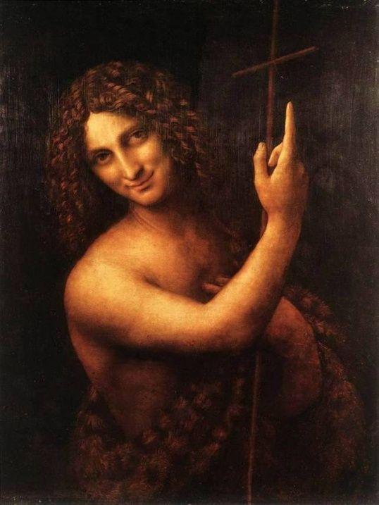Леонардо Да Винчи. Картина Иоанн Креститель. 1513-16