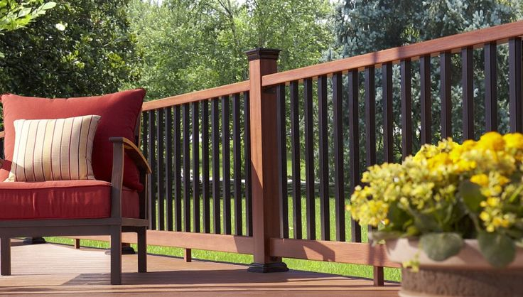 17 best images about fiberon railing on pinterest shops lowes and composite deck railing - Vinyl deck railing lowes ...