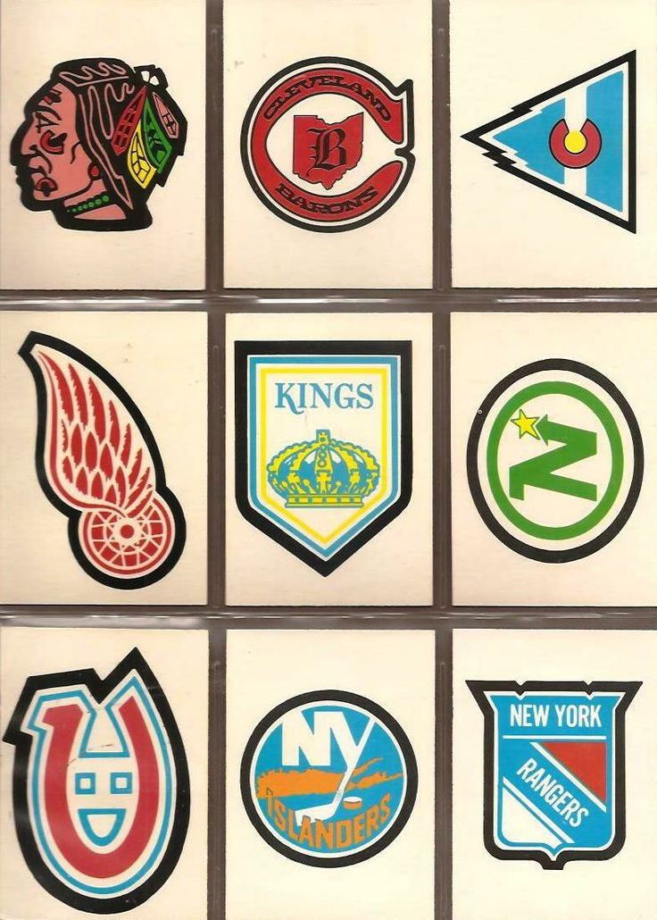 325-333 Chicago Black Hawks, Cleveland Barons, Colorodo Rockies, Detroit Red…