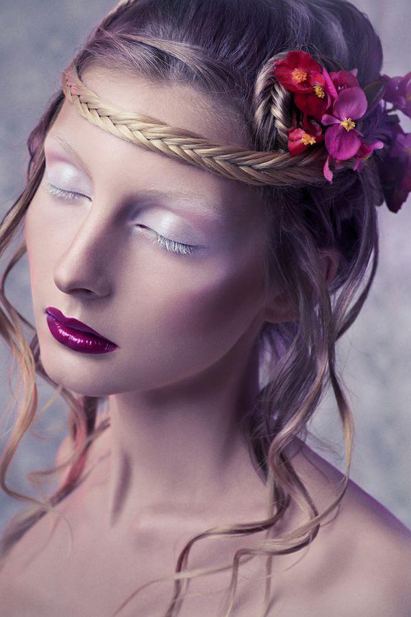 Flower child by Anna Kirikova, via Behance