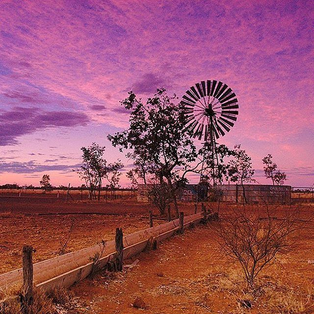 Picturesque sunset taken on the Barkly Highway from Mount Isa to Camooweal by @bluedogphotography #thisisqueensland