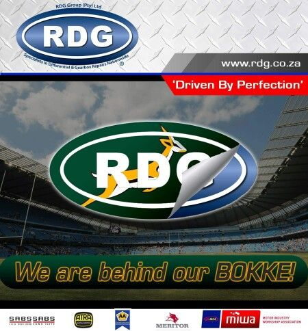 A Super Geared- Up Monday afternoon to you all, Not a bad start to the week knowing our Springboks have sprung back on track!. Well Done against the Samoans this Sat, as it was definitely a game to remember. We at RDG are behind our Bokke! and we we wish them as well as all our loyal customers and Facebook fans an eventful week further!
