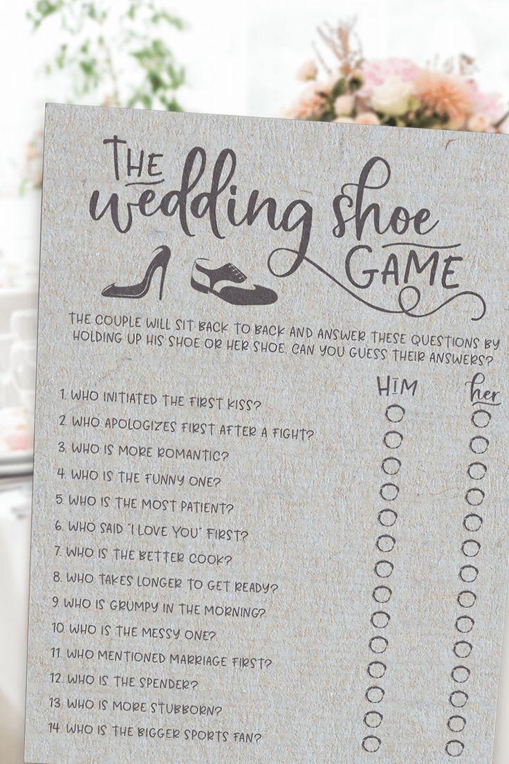 Grau Hochzeit Schuh Bridal Shower Spiel. Hochzeit-Schuh-Spiel