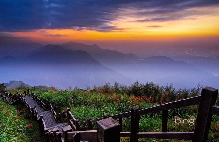 mountain with sunrise in morning