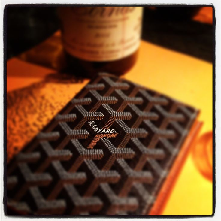 Goyard Men's Wallet, rue St. Honore, Paris.