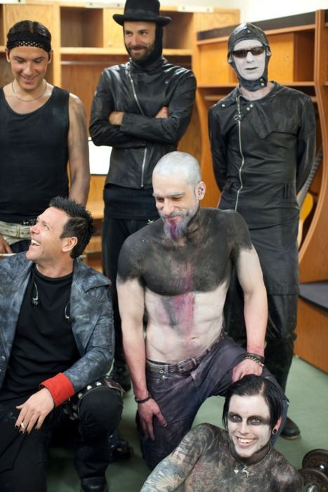 Rammstein and Combichrist. This much epic makes me so happy. :D