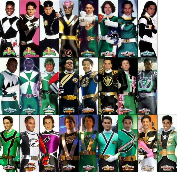 Pick the green and black power rangers Quiz - By Lordofthewings