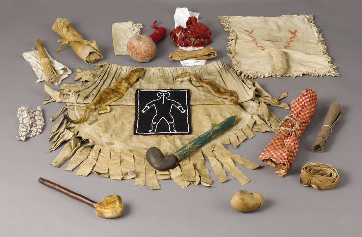 AN OJIBWA SHAMAN'S RITUAL MATERIAL. . c. 1880. ... (Total: | Lot #77356 | Heritage Auctions