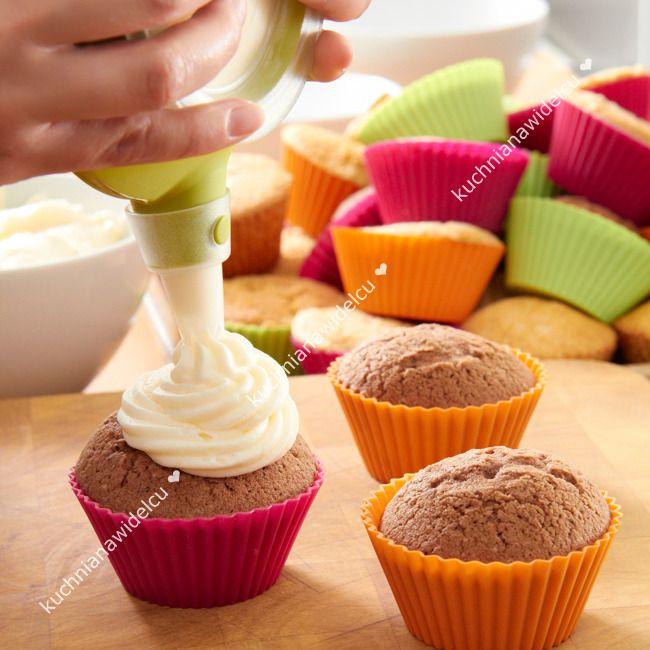 Zestaw do wypieku i dekorowania muffinek - 7 elementów| LEKUE KIT CUPCAKE