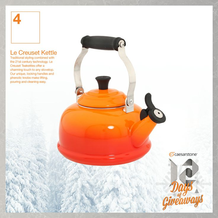 DAY 4: Thursday, December 5th, 2013 - You could WIN a Le Creuset Kettle. For more information about our Twitter contest click here: www.caesarstone.c...