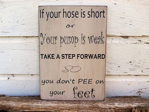 Funny Bathroom Sign, Wood Bathroom Sign, cute saying bathroom sign on Etsy, $38.95
