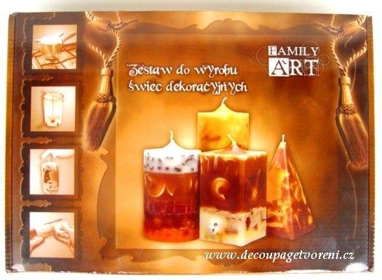 Parafin, sestavy | Sestava na výrobu svíček KLASIC 1., válec a pyramida | Decoupage, ubrousky, dekorace, Twist Art