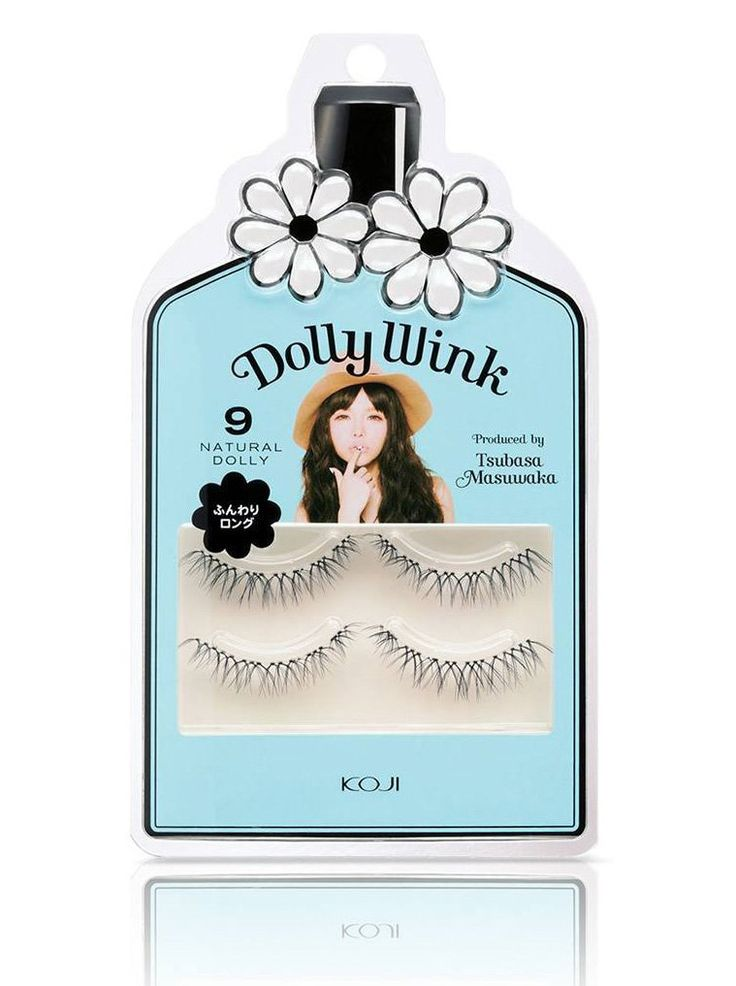 Natural Dolly Dolly Wink Eyelashes by Dolly Wink. Koji Dolly Wink no. 09 Natural Dolly is a top lash designed for a natural look. The natural cross design blends in with your natural lashes perfectly. This fake eyelashes made from good material, and it's easy to use.  http://www.zocko.com/z/JHxhv