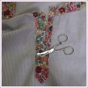 Patron de la patte, les coutures sont comprises, couper 1 fois. (Cliquer sur l'image pour avoir le schéma en format PDF) Poser le tracé de la fente sur le milieu du devant sur l'envers du tissu, épingler sur ce tracé, piquer tout autour à 0,5 cm. Fendre,...