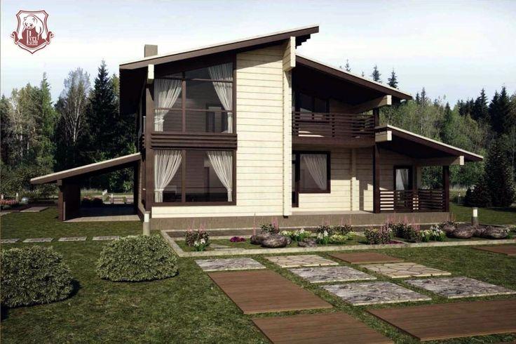 Проект дома из клееного бруса Медное (КБ - 252)